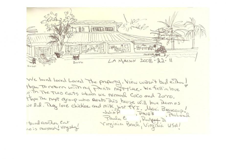 St Barts Villa La Maison Review - Drawing