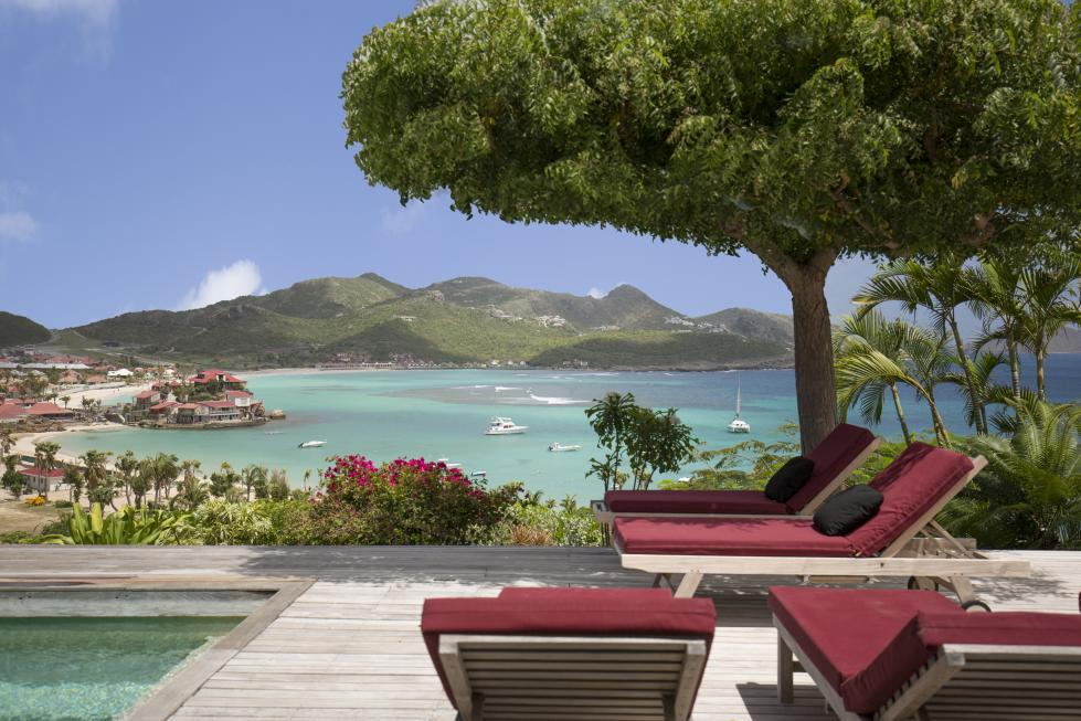 St Barts Villa Rentals By Owner -The Deck - View on St Jean Bay