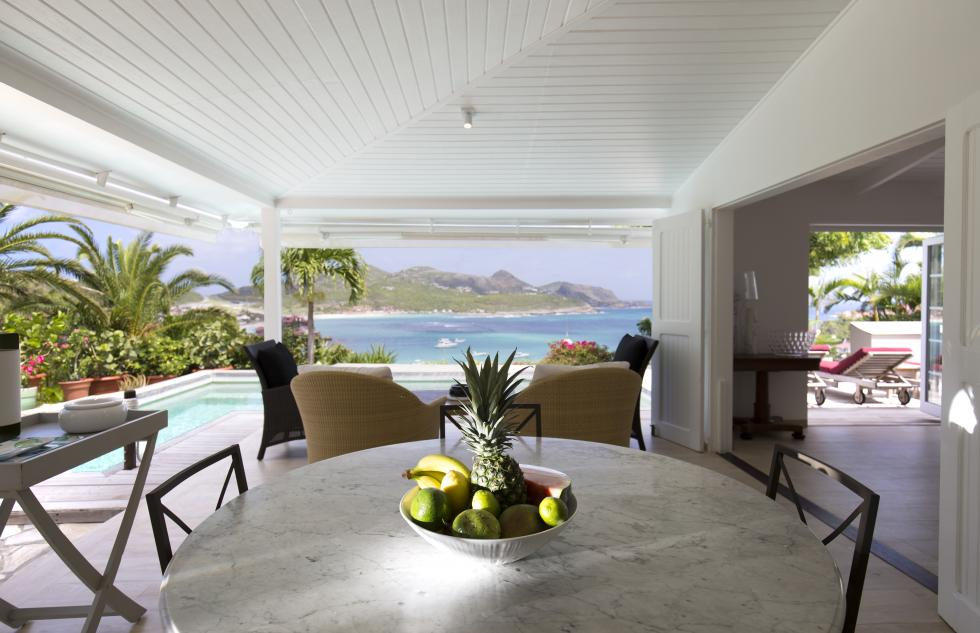 St Barts Villa Rentals By Owner - The Dining Room - View