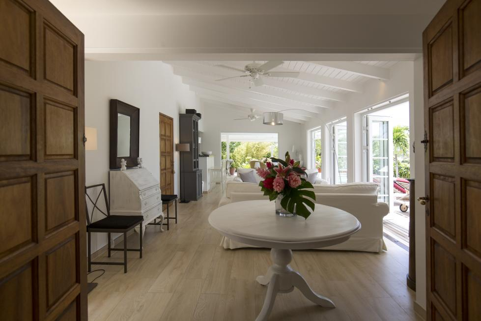 St Barts Villa Rentals By Owner - Living Room - View from the Governor Suite
