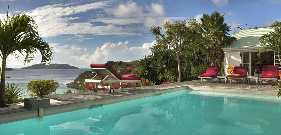 St Barts Villa Rentals - Pool & View on St Jean Bay