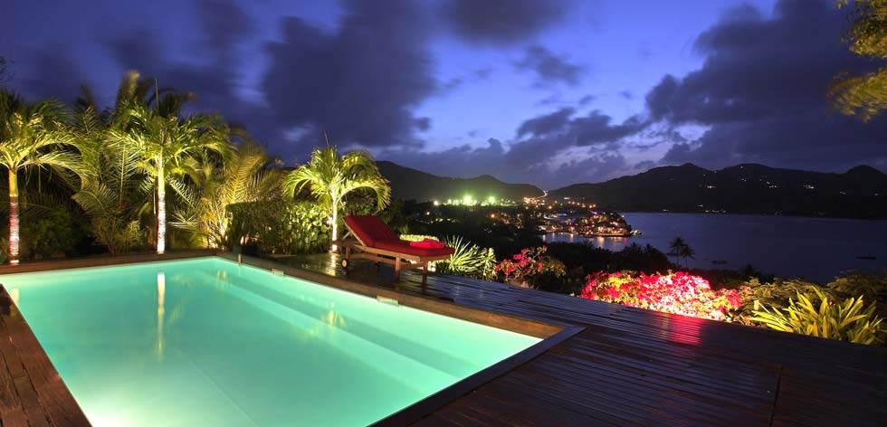 St Barts Villa Rental - View At Night
